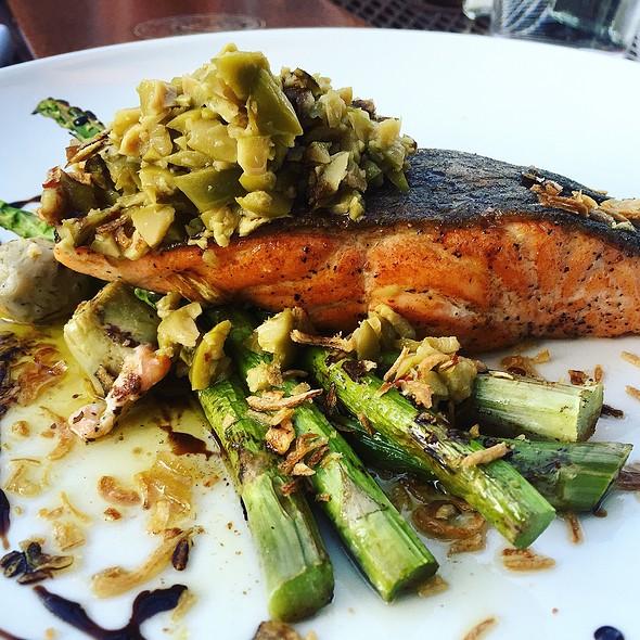 Grilled Salmon - Stephanie's On Newbury, Boston, MA