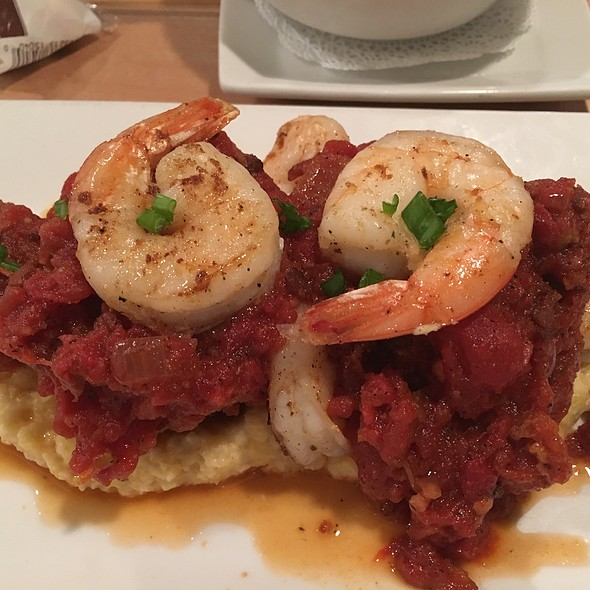 Shrimp And Grits With Fried Green Tomato - Lowcountry Bistro, Charleston, SC