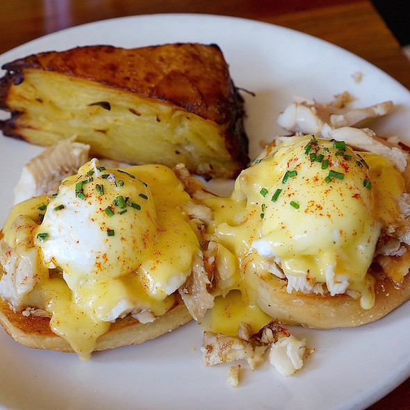 Smoked Trout Eggs Benedict - Olympia Provisions Southeast, Portland, OR