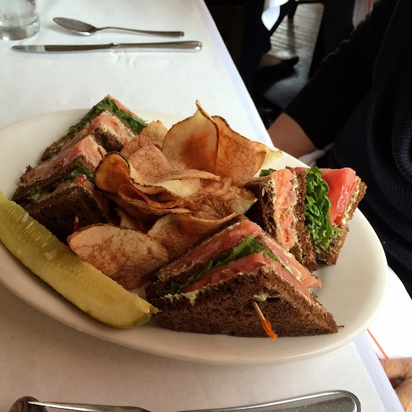 Salmon Sandwich - Witherspoon Grill, Princeton, NJ