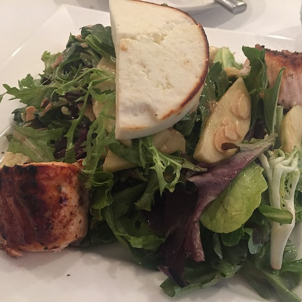 Manouri Salad With Salmon - Nostos Restaurant, Vienna, VA