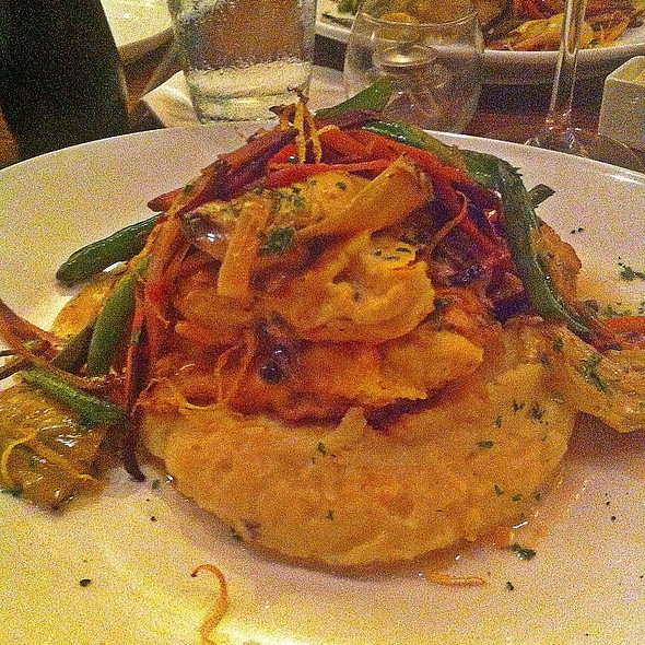 Grilled Chicken And Veggies Over Creamy Polenta - Biscottis, Jacksonville, FL