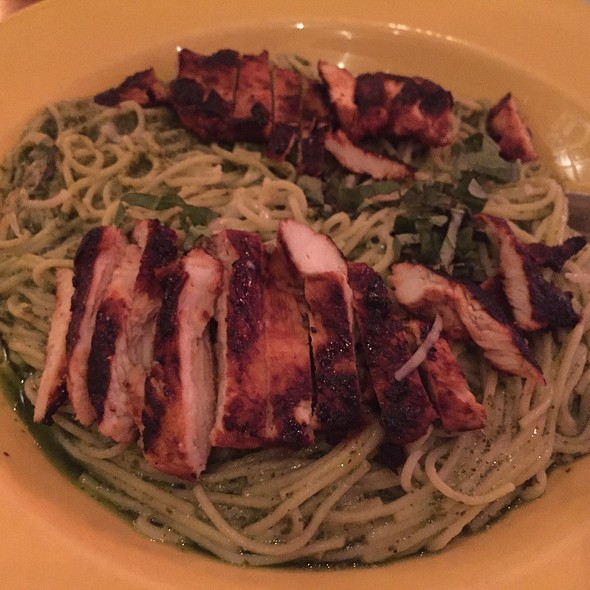 Angelhair Pasta W/ Grilled Chicken - Rocco's Cafe, San Francisco, CA