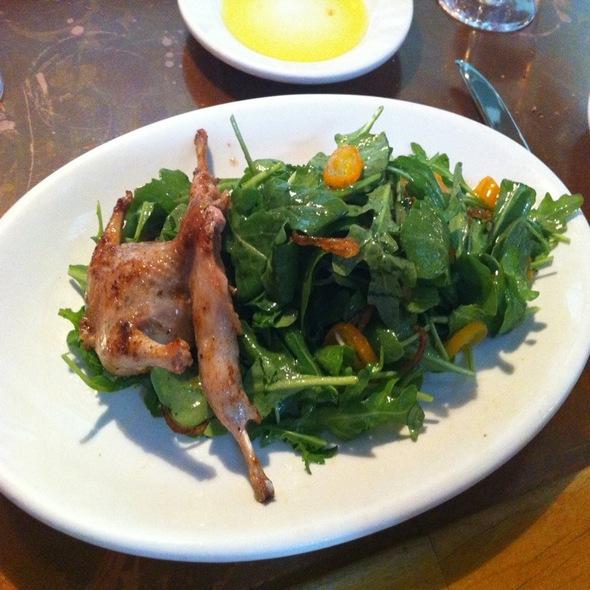 Quail With Aragula Kumquat Salad - Soif Wine Bar Restaurant, Santa Cruz, CA