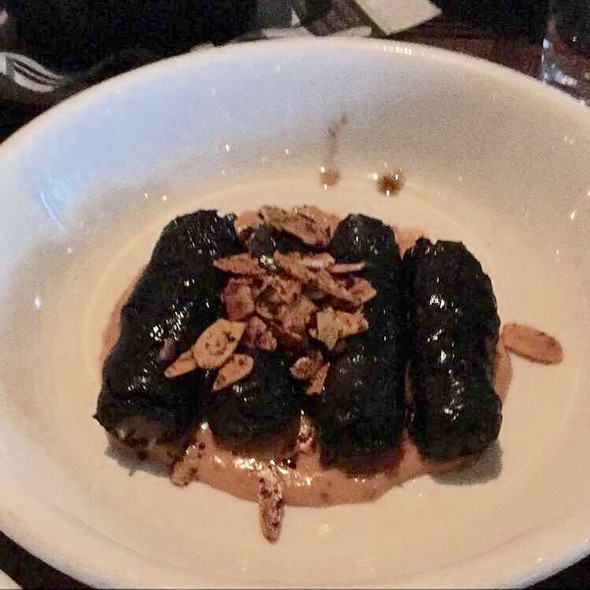 Chicken Confit And Jasmine Rice Stuffed Grape Leaves - Zahav, Philadelphia, PA