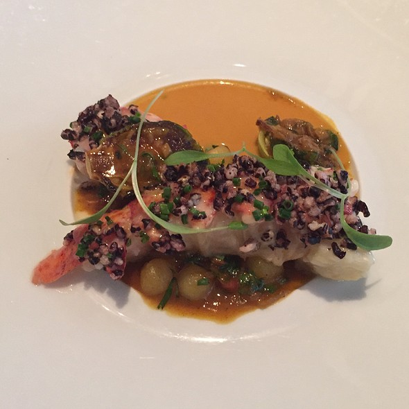 Poached Maine Lobster, Coconut Curry Sauce, Black Rice And Chickpeas - Campton Place, San Francisco, CA
