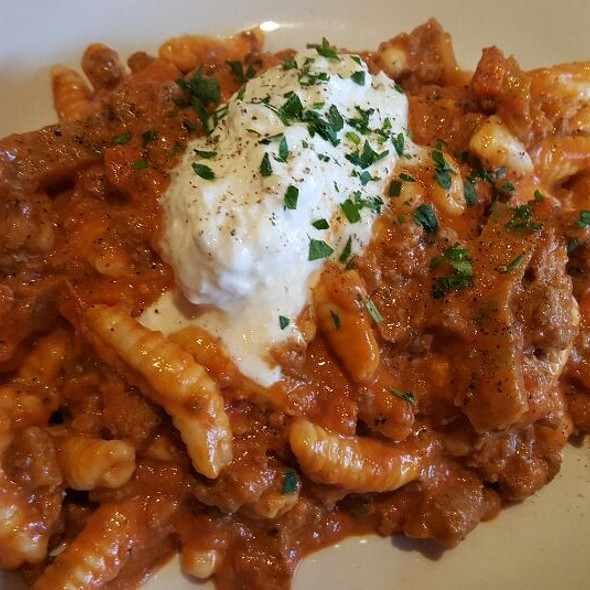 Cavatelli with Bolognese and Stracciatella Cheese - 3 Doors Down Cafe and Lounge, Portland, OR