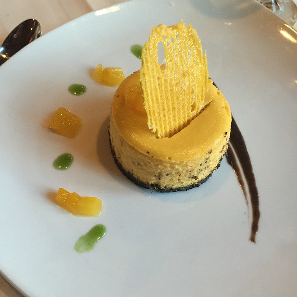 Mango Cheesecake - Liberty House Restaurant, Jersey City, NJ