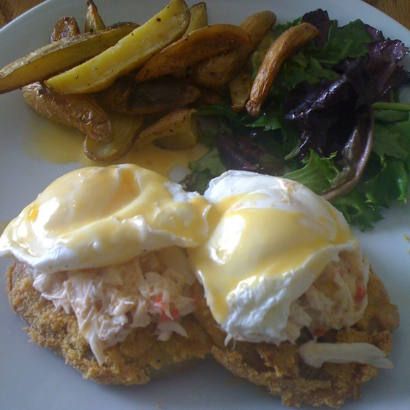 Fried Green Tomato & Crab Benedict - The Portage, Chicago, IL