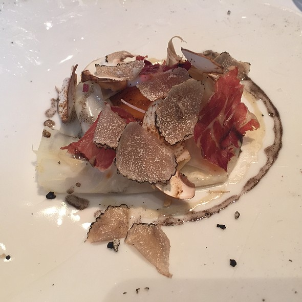 Bantam's Egg, Truffled Celeriac, Arbois, Dried Ham - The Ledbury, London