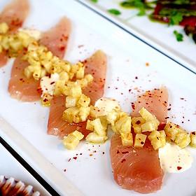 Yellowtail Crudo - Culina, Los Angeles, CA