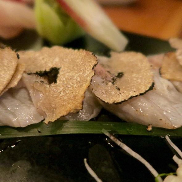 Akamatsu (Snapper) Sashimi With Black Truffles - BARMASA - Aria, Las Vegas, NV
