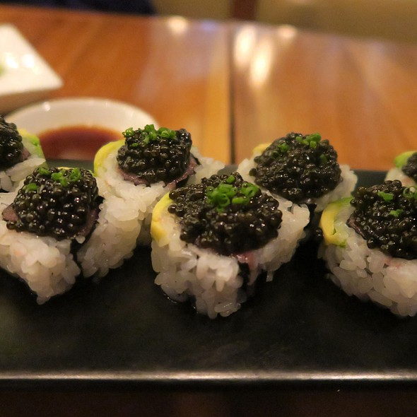 Bluefin Tuna Toro Roll With Caviar - BARMASA - Aria, Las Vegas, NV