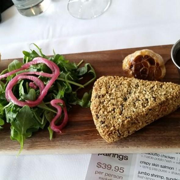 chef Deborah's pepita & sesame crusted brie - Vintana Wine & Dine, Escondido, CA