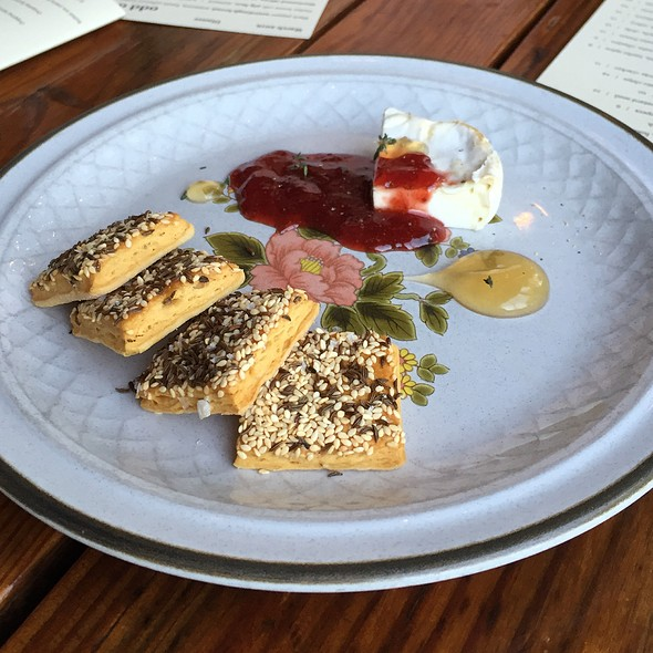 Goat Cheese Spring Onion Spread, Seeded Cracker - Odd Duck, Austin, TX