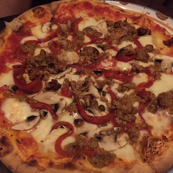 Sausage Mushroom Pizza - Il Brigante Restaurant, New York, NY