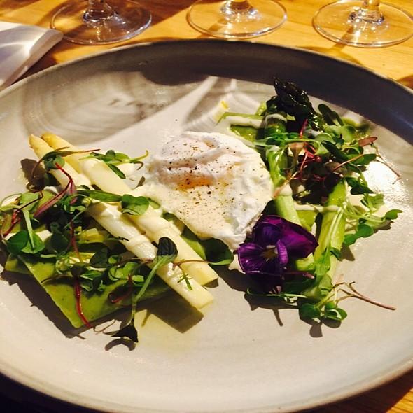 Pasta Verde W Roasted Asparagus, Taleggio Fonduta & Poached Egg - L'Unità Enoteca, Toronto, ON