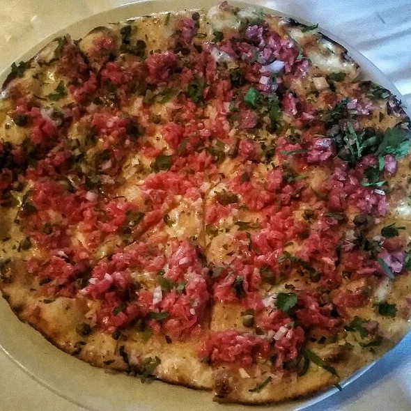 SRG Steak Tartare Pizza - Snake River Grill, Jackson Hole, WY