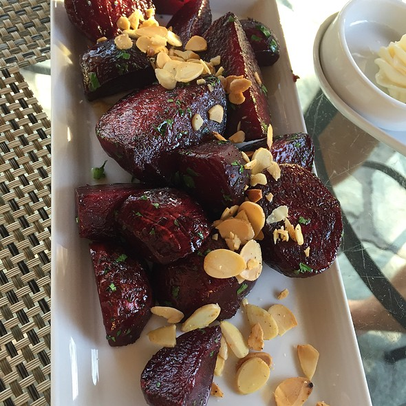 Roasted Beets & Almonds - Quails' Gate Estate Winery - Old Vines Restaurant, Kelowna, BC