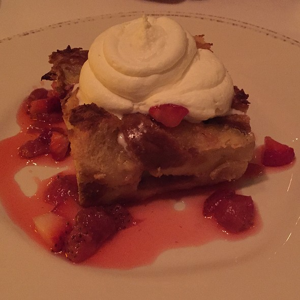 Strawberry Bread Pudding - Fascino, Montclair, NJ