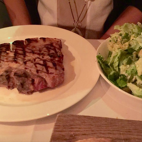 Tbone With Avocado Salad - Dean Street Townhouse, London