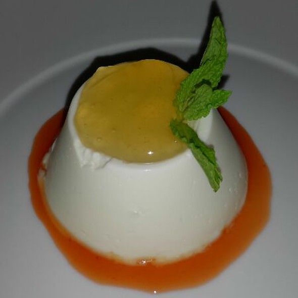 Lemon Panna Cotta With Marmalade And Grapefruit Coulee - Sugo Italian Food & Wine, Calgary