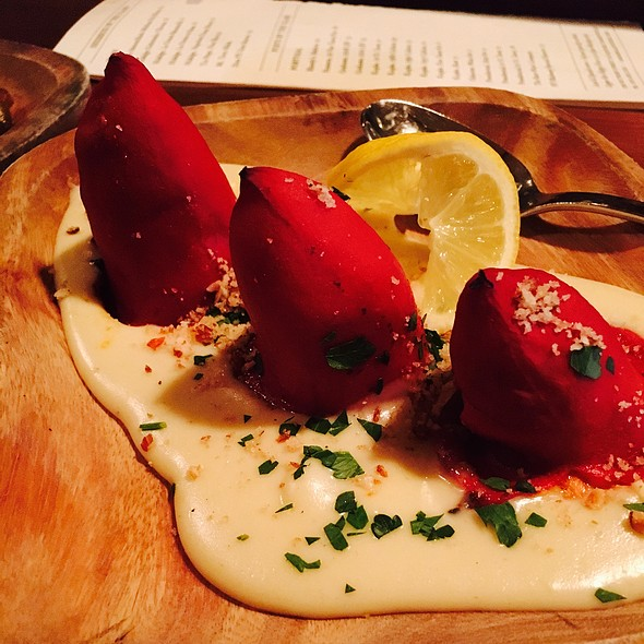 Piquillo Peppers Stuffed With Smoked Salmon - La Rambla Restaurant & Bar, McMinnville, OR