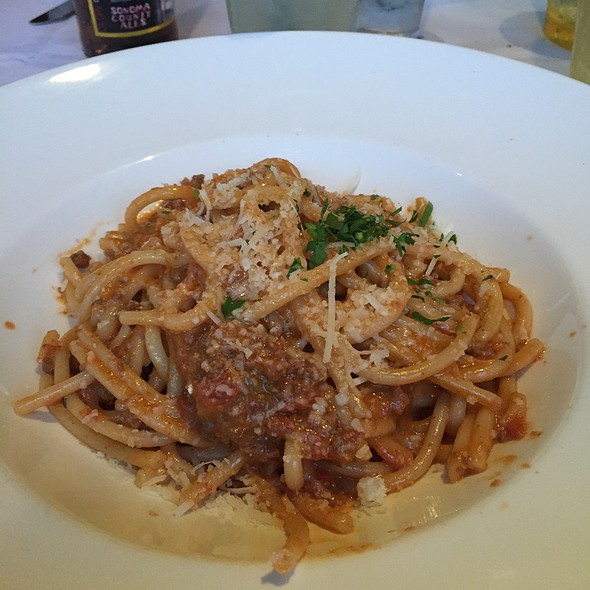 Pork And Lamb Bolognese - Mustards Grill, Yountville, CA