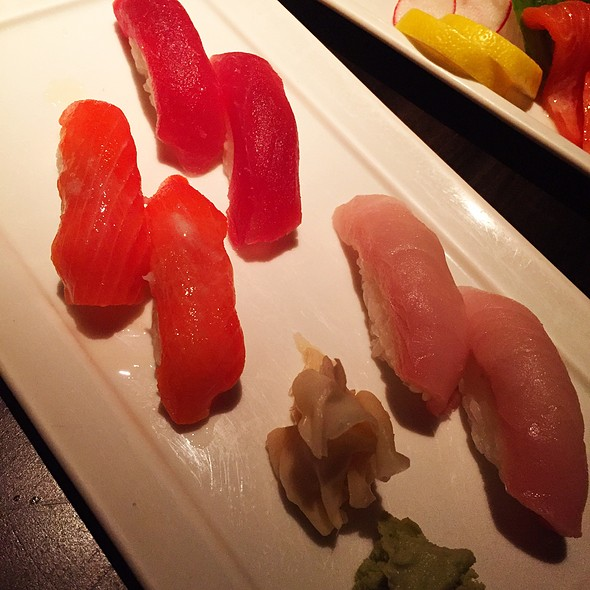 Tuna, Sockeye Salmon And Hamachi Sushi - Koi, West Hollywood, CA