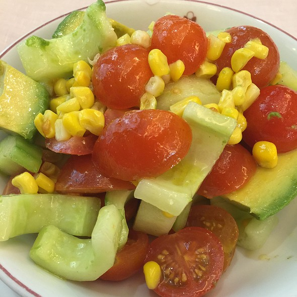 Cucumber, Avocado, Cherry Tomato And Sweet Corn Salad - Mr. C Beverly Hills, Los Angeles, CA