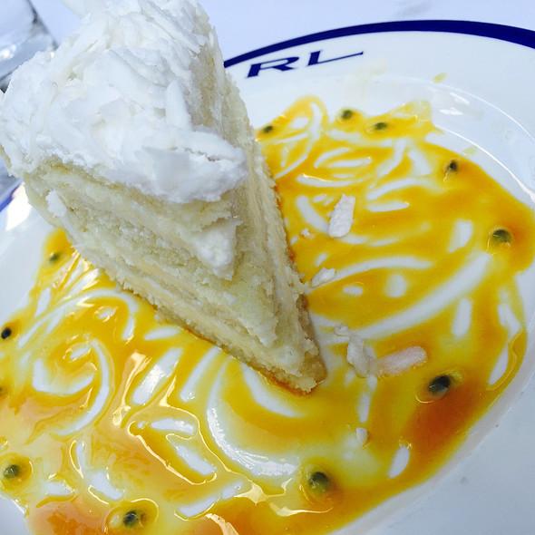 Coconut Vanilla Mango Cake - RL Restaurant, Chicago, IL