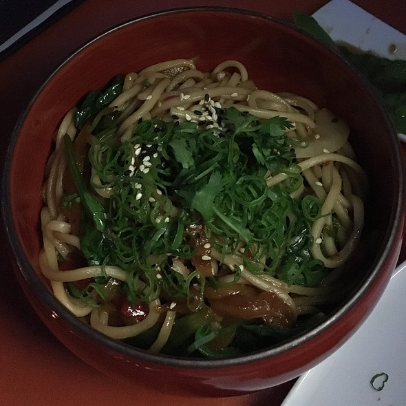 Vegan Udon Noodles - Departure Restaurant and Lounge, Portland, OR