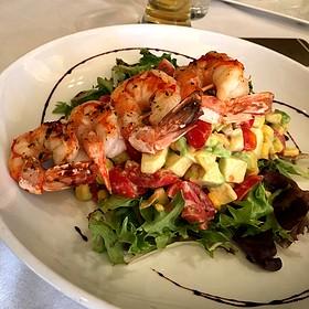 Grilled Prawns over Avocado Salad - Lucky 32 Southern Kitchen - Greensboro, Greensboro, NC
