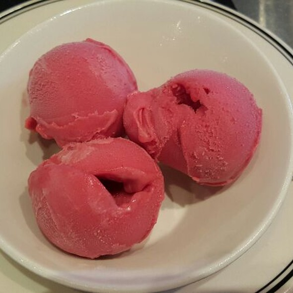 Red Raspberry Sorbet - Oceanaire Seafood Room - Houston, Houston, TX
