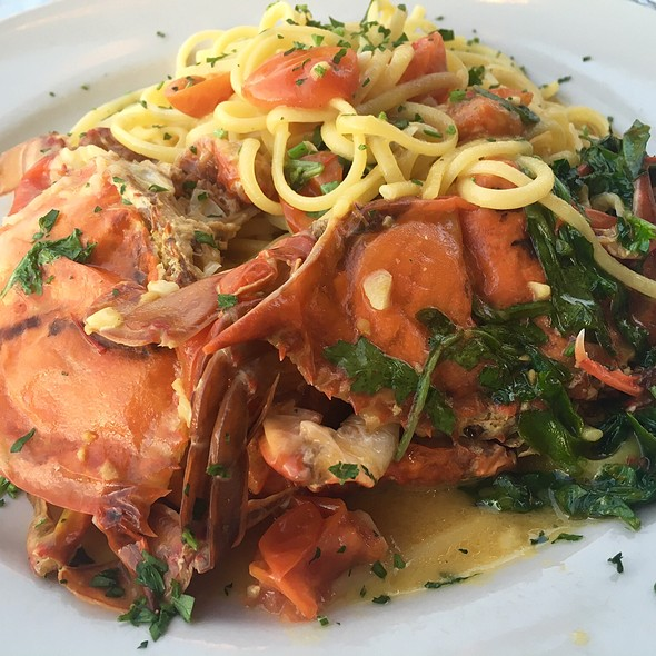 Soft Shell Crabs Over Pasta - Carlucci's Waterfront, Mount Laurel, NJ