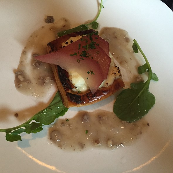 Warm Goat Cheese Tart - Café Routier, Westbrook, CT