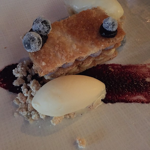 Filo Napoleon With Blueberry Compote - Redd, Yountville, CA