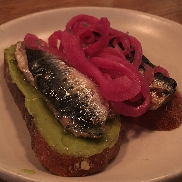 Wood Oven Roasted Local Sardine And Avocado Toast - Contigo, San Francisco, CA