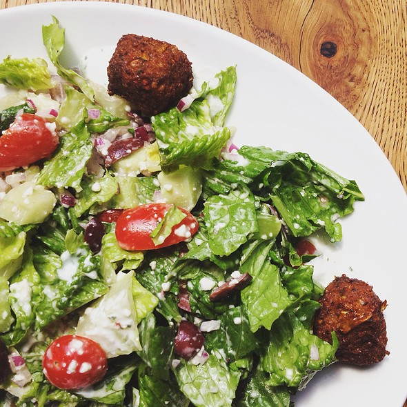 Falafel Salad With Lemon-Tahini Dressing - Terrapin Restaurant, Rhinebeck, NY