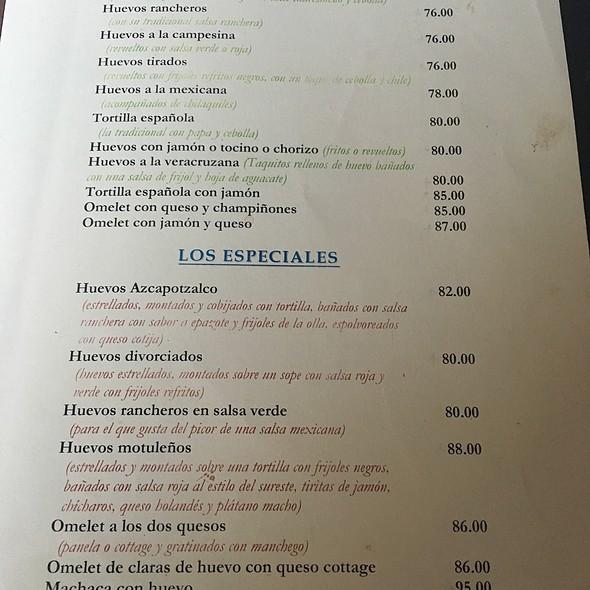 Menu Desayuno - Nicos Queretaro, Querétaro, QUE