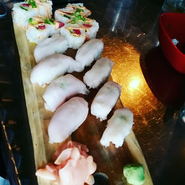 White Tuna Nigiri Sushi - Kanpai - Sushi Asian Bistro, Evansville, IN