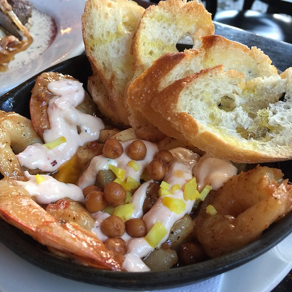 Shrimp Saganaki - Mezetto, New York, NY