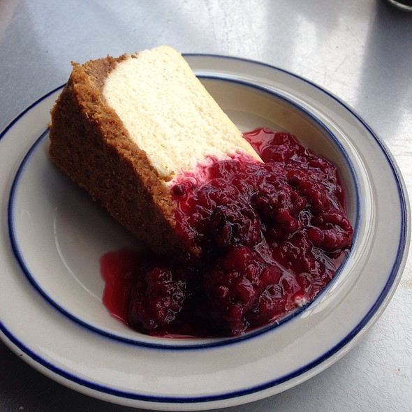 Blackberry Compote Cheesecake - Robert's Maine Grill, Kittery, ME