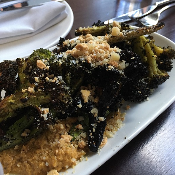 Charcoal Grilled Broccoli - Alden and Harlow, Cambridge, MA