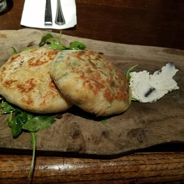 Vegetarian Stuffed Flatbread Duo - Café 21 – Gaslamp, San Diego, CA