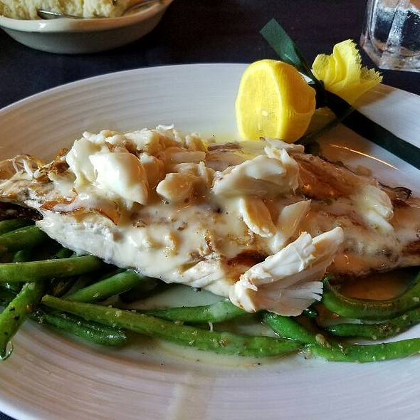 Grilled Redfish With Jumbo Lump Crab And Green Beans  - Kirby's Prime Steakhouse - The Woodlands, The Woodlands, TX
