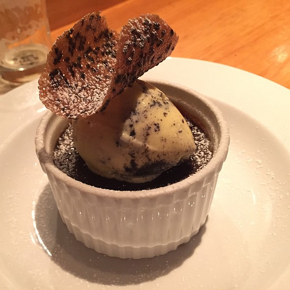 Black Seasame Creme Brulee - Sakagura, New York, NY