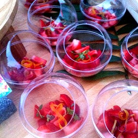 Strawberries With Limoncello  & Mint - Cielo Restaurant and Bar, St. Louis, MO