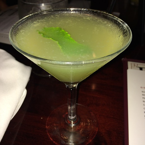 Basil Lemon Drop Martini - Longfellows Restaurant & Hotel, Saratoga Springs, NY