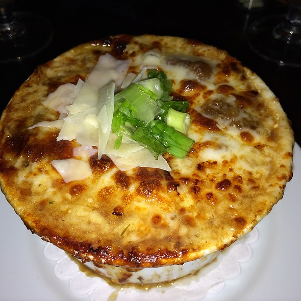 Blistered Onion Soup - Longfellows Restaurant & Hotel, Saratoga Springs, NY